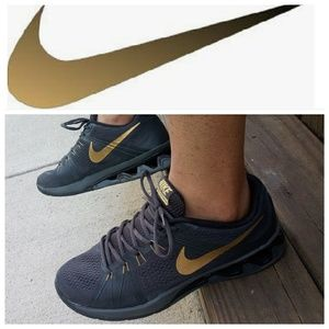 """💣Nike Reax Lightspeed """"Charcoal Gold"""" trainers💣"""